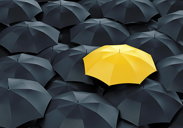 umbrella mage yellow and black