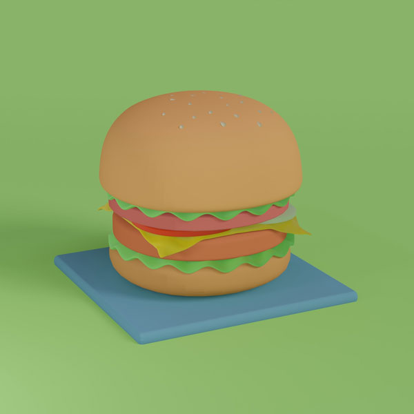 hamburger representing website hosting in a funny way